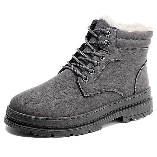 Botas de Invierno para Hombres Botas Impermeables Calientes Zapatos Botines de Nieve para el Tobillo: Amazon.es: Zapatos y complementos