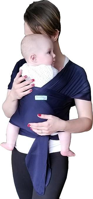 Amazon Com The Breezy Wrap Quick Dry Cotton Mesh Baby Carrier