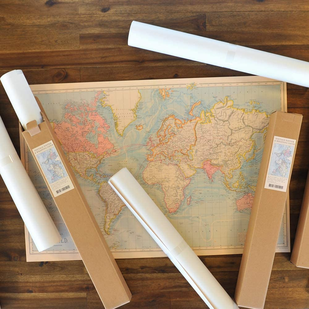 World map Design 10 Sheets Monolike Vintage Poster and Wrapping Paper