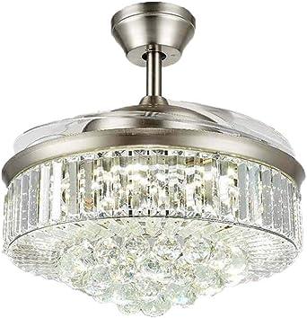 LY Ventiladores de techo de cristal con luces y control remoto ...