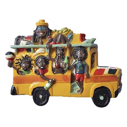 Imán para nevera, diseño de autobús de carnaval en 3D dominicano ...