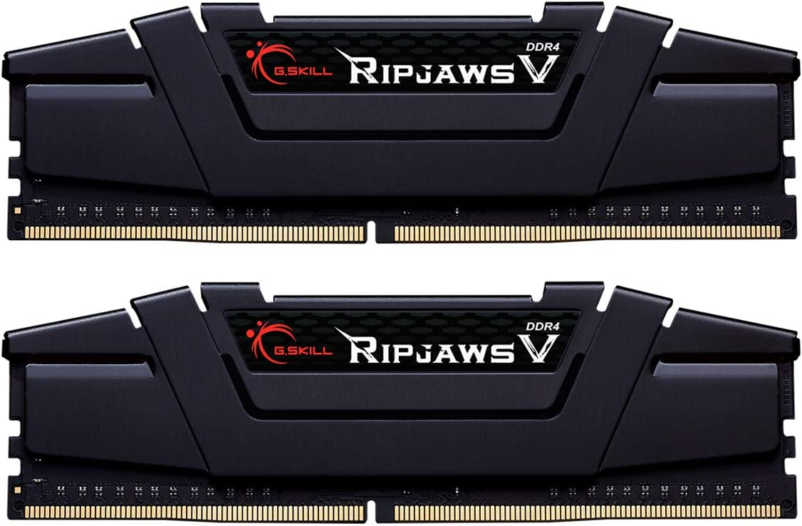 G.Skill RipJaws V Series 16GB (2 x 8GB) 288-Pin SDRAM PC4-28800 DDR4 3600 CL16-19-19-39 1.35V Dual Channel Desktop Memory Model F4-3600C16D-16GVKC