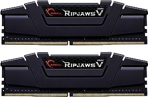 G.Skill RipJaws V Series 16GB (2 x 8GB) 288-Pin SDRAM PC4-28800 DDR4 3600 CL16-19-19-39 1.35V Dual Channel Desktop Memory Model F4-3600C16D-16GVKC