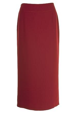 Busy Ropa para Mujer Rojo borgoña Falda Larga Rojo Rosso 54 ...