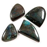 Gems&JewelsHub 144CTS Azurite Chrysocolla naturale cabochon pietra preziosa mix 4pz lotto all' ingrosso