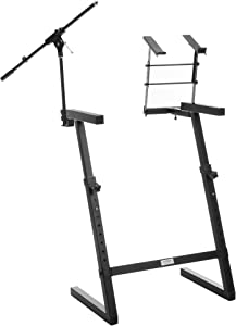 Classic Cantabile KWS-100 Keyboard Stand with Microphone Stand and Laptop Holder