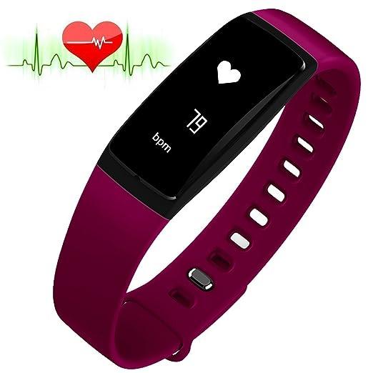 155 opinioni per RIVERSONG®Fitness Tracker Heart Rate Monitor di pressione sanguigna Bracciale