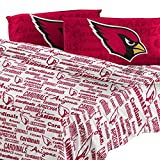 The Northwest Company Northwest NOR-1NFL821010080WMT Arizona Cardinals NFL Full Sheet Set - Anthem Series