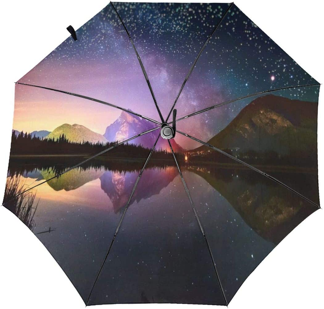 XGXC The Beautiful Sky Automatic Tri-fold Umbrella Inside Print One Size