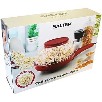 Cook /& Serve Popcorn Maker Non-Stick Non-Slip Feet Popcorn Electric Machine 800W