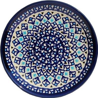 Polish Pottery Plate 7.5 Inch From Zaklady Ceramiczne Boleslawiec #Gu-814-217a Traditional Pattern, 7.5 Inch Diameter