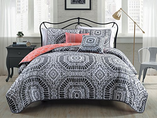 Geneva Home Fashion Avondale Manor Petra 5-Piece Quilt Set, King, (Petra Sham)