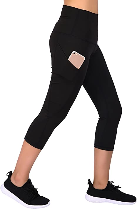 Amazon.com: HDE Womens Capri Yoga Pants Fitted Stretch ...