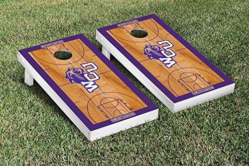 NCAA Basketball Wooden Cornhole Game Set NCAA Team: Western Carolina University Catamounts