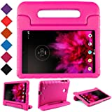 BMOUO Kids Case for LG G Pad 7.0 – Protective Light Weight Shock Proof Convertible Handle Stand Case for LG G Pad V400 / V410 (LTE) / VK410 / UK410 / LK430 (G Pad F7.0) 7 Inch, Rose