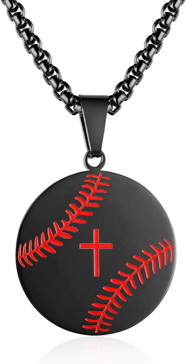 Rehoboth Stainless Steel Cross Pendant Necklaces for Girls Boys Men Women Philippians 4:13 Strength Bible Verse I Can Do All Things Chain 24 Inch