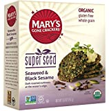 Mary's Gone Crackers Super Seed Cracker, Seaweed and Black Sesame, 5.5 Ounce (Packaging may vary)