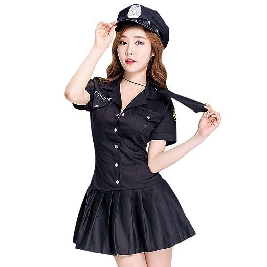 LSERVER-Disfraz Uniforme de Policía para Mujer Sexy Ropa Sexual ...