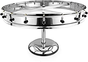 New Star Stainless Steel Order Wheel Ticket Holder, 20 Clips, 23-Inch Dia with 10-Inch Chrome Heavy Base, 1 Piece