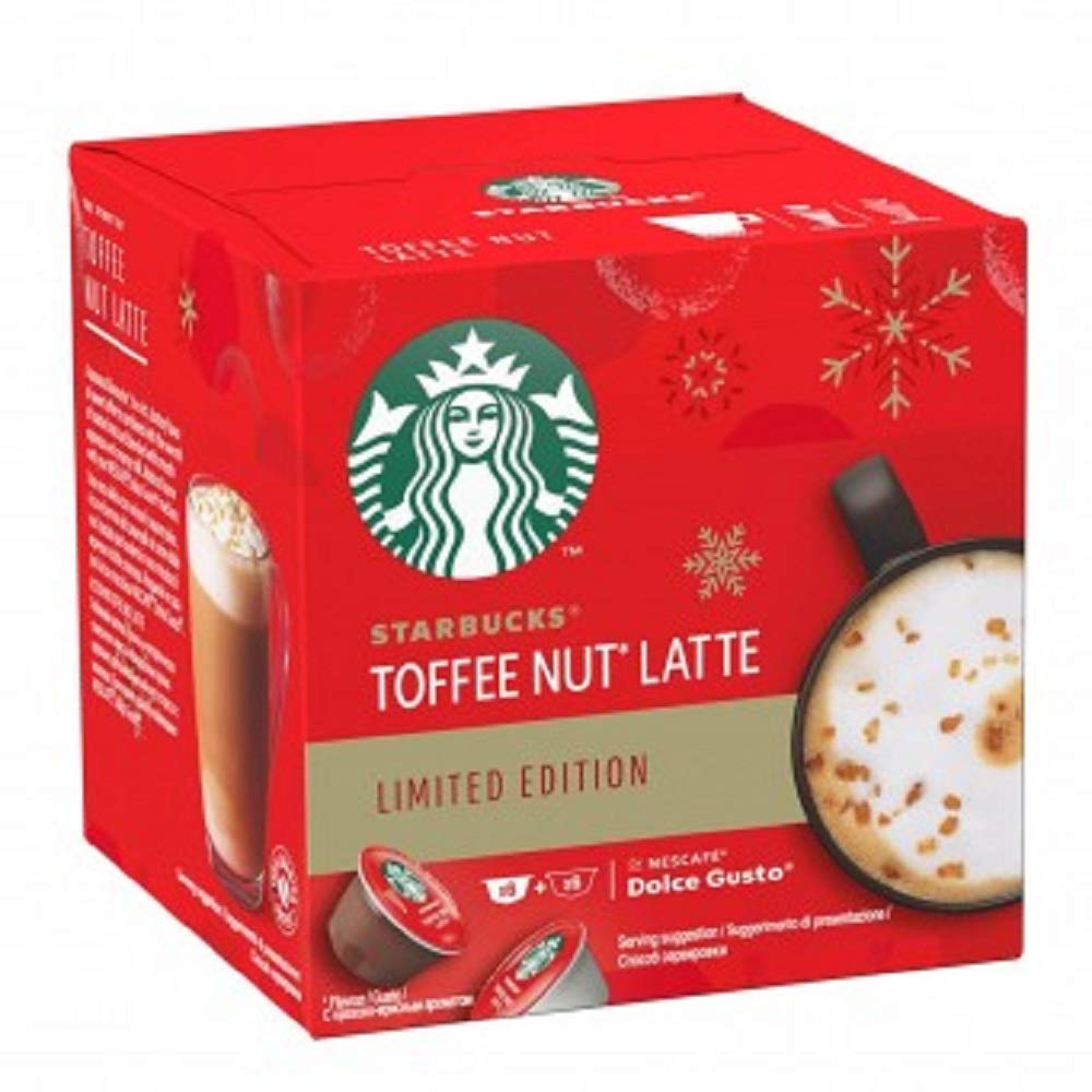 Dolce Gusto Starbucks Toffee Nut Latte Limited Edition 12 Capsules, 6 Drinks