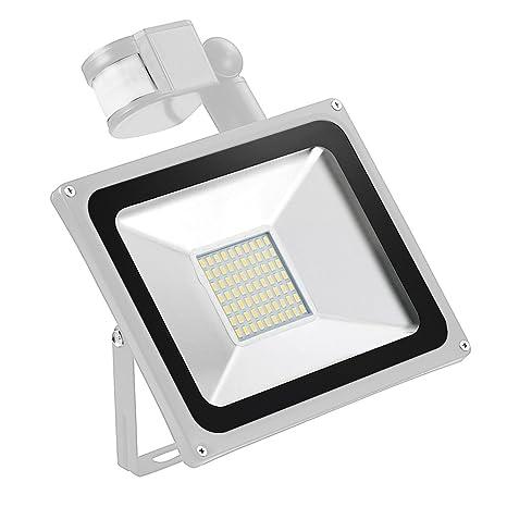 yunt 50 W LED de movimiento sensible de detector de inundación luz Foco Floodlight Foco Luz