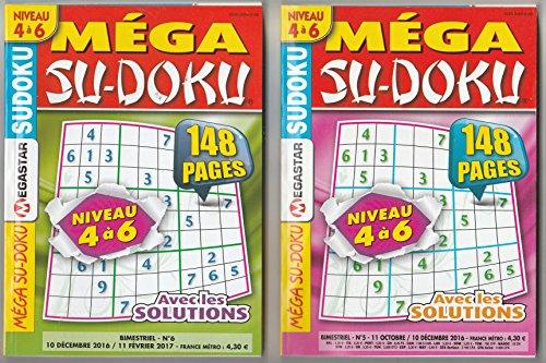1 LIVRE DE JEUX SUDOKU NIVEAUX DE 5 A 6 + 2 MEGA SU-DOKU (148 pages) +1 ARCHIPEL OFFERT S6