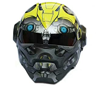 MATEROP Man Casco de Moto Casco Medio Casco Casco de Cara Abierta Casque Motocross One M
