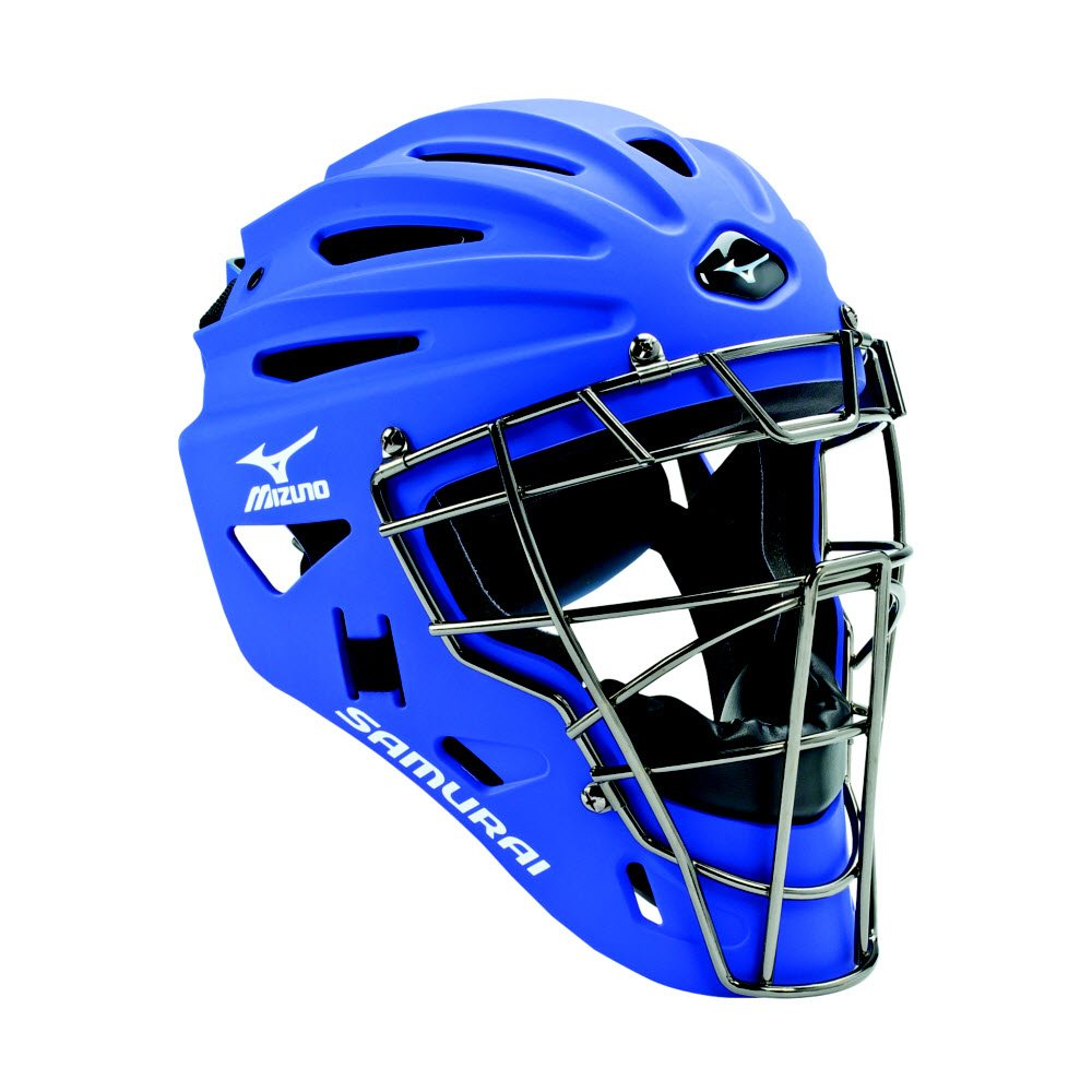 Mizuno Youth G4 Samurai Catcher's Helmet, Royal by Mizuno
