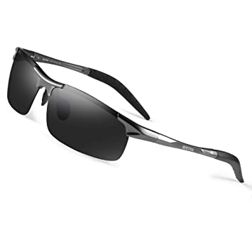 4ed1924725 Image Unavailable. Image not available for. Color  Bertha Men s HOT Fashion Driving  Polarized Sunglasses for Men Al-Mg Metal ...