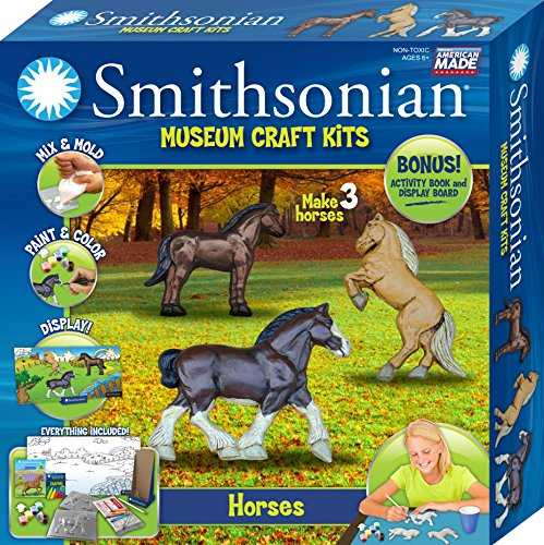 Horse Cast (Smithsonian Horses PerfectCast Museum Cast, Paint, Display and Learn Craft Kit)