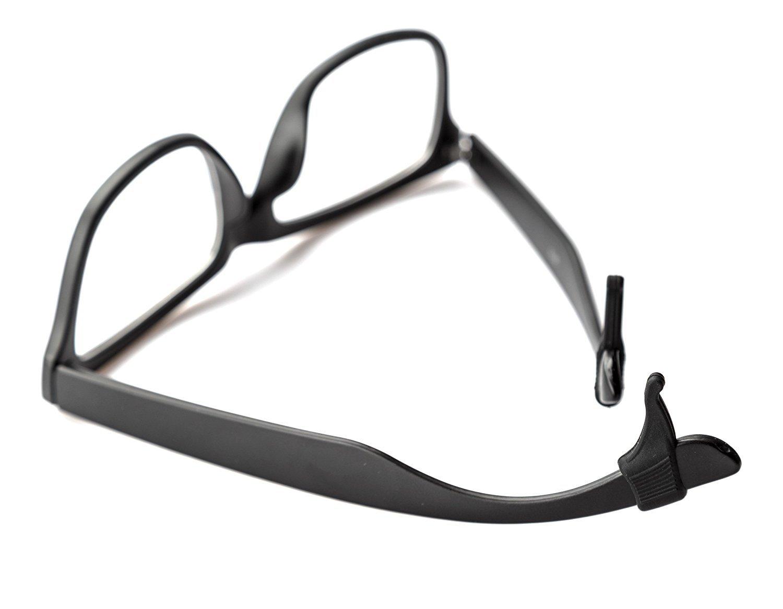 Keepons Ministretch White Prevent Eyeglass Slipping Anti Slip Anti Slide Eyewear Sunglasses Spectacles Glasses Temple Tips Sports Ear Hooks Sleeves Retainer 2 Pairs
