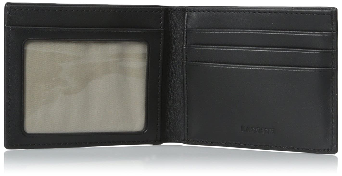 325cb6465d Lacoste Men's Fitzgerald Leather Billfold with ID Card Holder, black, One  Size at Amazon Men's Clothing store: