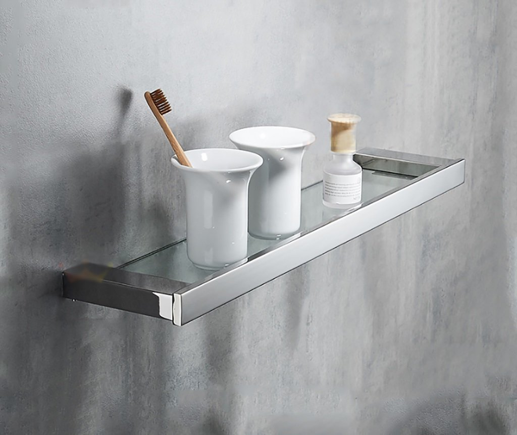 60CM Bathroom Shelf   304 Stainless Steel Bathroom Shelf Wall Mount Size 40 50 60 13cm (color   60CM)