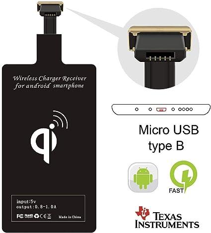 Amazon.com: Cargador inalámbrico receptor adaptador Qi ...