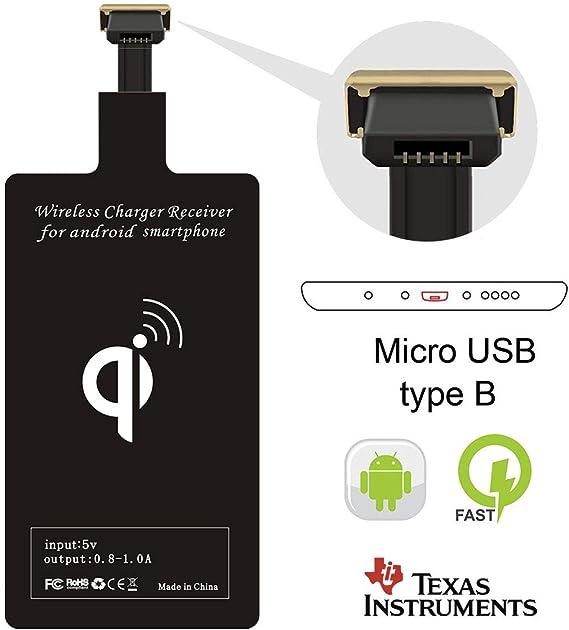 Receptor de Carga Inal/ámbrica Universal USB Tipo C R/ápido