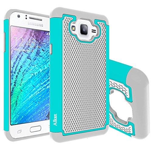 Slim Fit Hybrid Case for Samsung J7 (Grey/Red) - 6