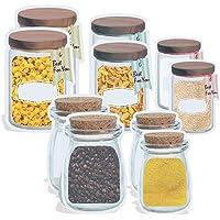 Mason Jar Ziploc Bag, Kitchen Organizer, Reusable Ziploc Bags, Leakproof Food Storage Bags, Seal Ziplock Bags, Stylish…