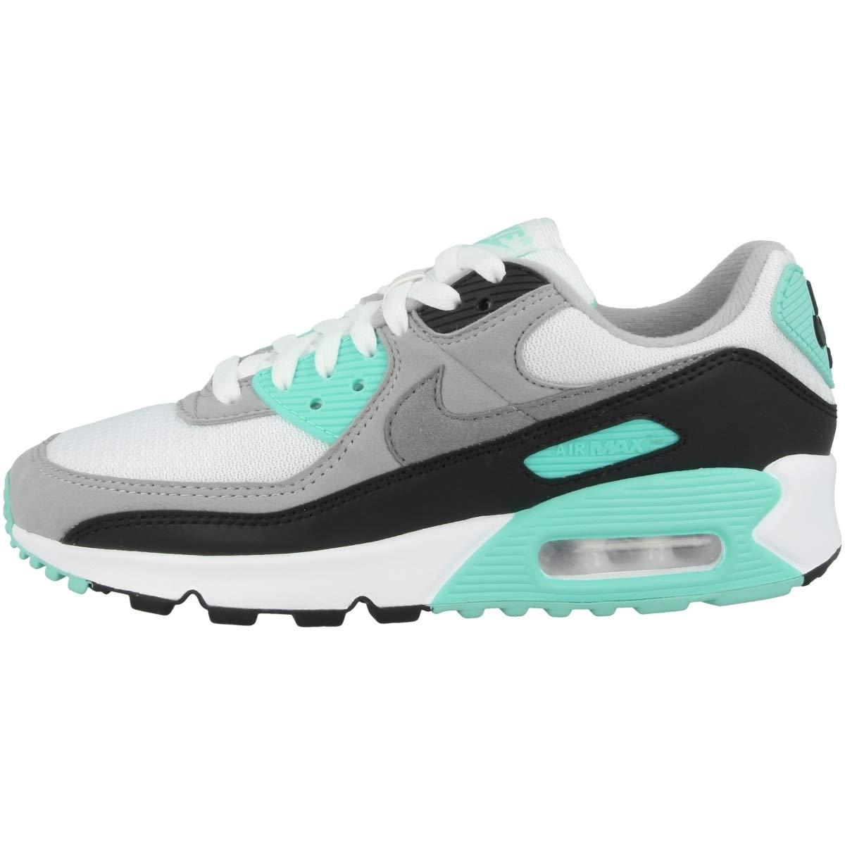 Nike W Air MAX 90, Zapatillas para Correr para Mujer, Blanco/Partícula Gris/Voltio/Negro, 35.5 EU: Amazon.es: Zapatos y complementos