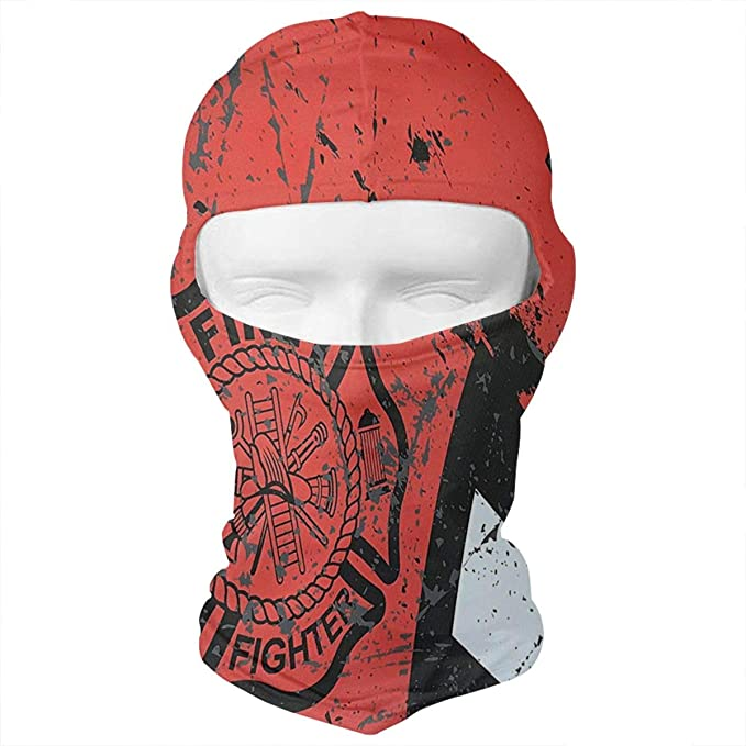 WD rain Firefighter Thin Red Line Flag Axe Balaclava Face Mask Headwear  Helmet Liner Gear Full Face ff0a86455