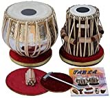 Maharaja Musicals Tabla Drum Set, Concert Quality, 4.5 Kg Chromed Copper Bayan, Sheesham Tabla Dayan with Padded Bag, Book, Hammer, Cushions, Cover, Tabla Instrument Indian (PDI-AAD)