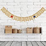 Natural Jute Burlap God Bless USA Banner Happy American Independence Day Fireplace Mantel Decoration