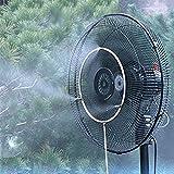 COM-SHOT 【 省エネ & クール 】 ミスト シャワー セット 扇風機 簡単 取付 エコ 打ち水 効果 熱中症 対策 気化 冷却 【 16 インチ 】 MI-MISTFN-16