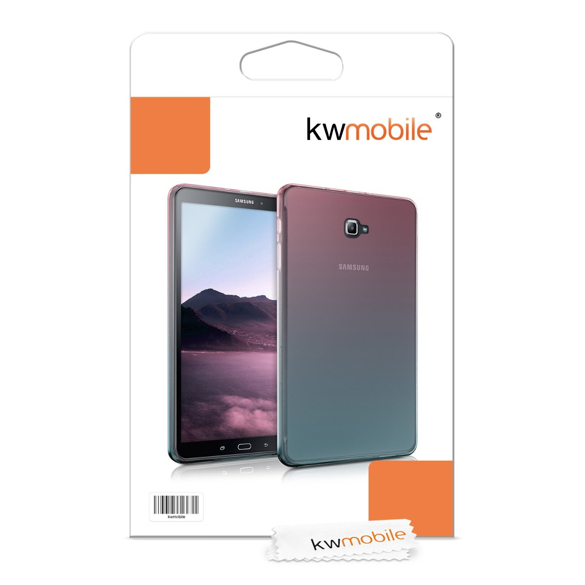 kwmobile /Étui Compatible avec Samsung Galaxy Tab A 10.1 T580N//T585N Housse Protectrice pour Tablette en Silicone noir-transparent