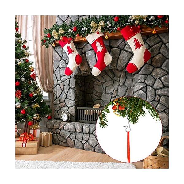 Kiiwah 200 Pezzi S Hooks Ganci Palle Natale, Ganci per Ornamenti Appendere in Metallo Albero di Natale Decorazioni per Feste di casa (Argento) 6 spesavip