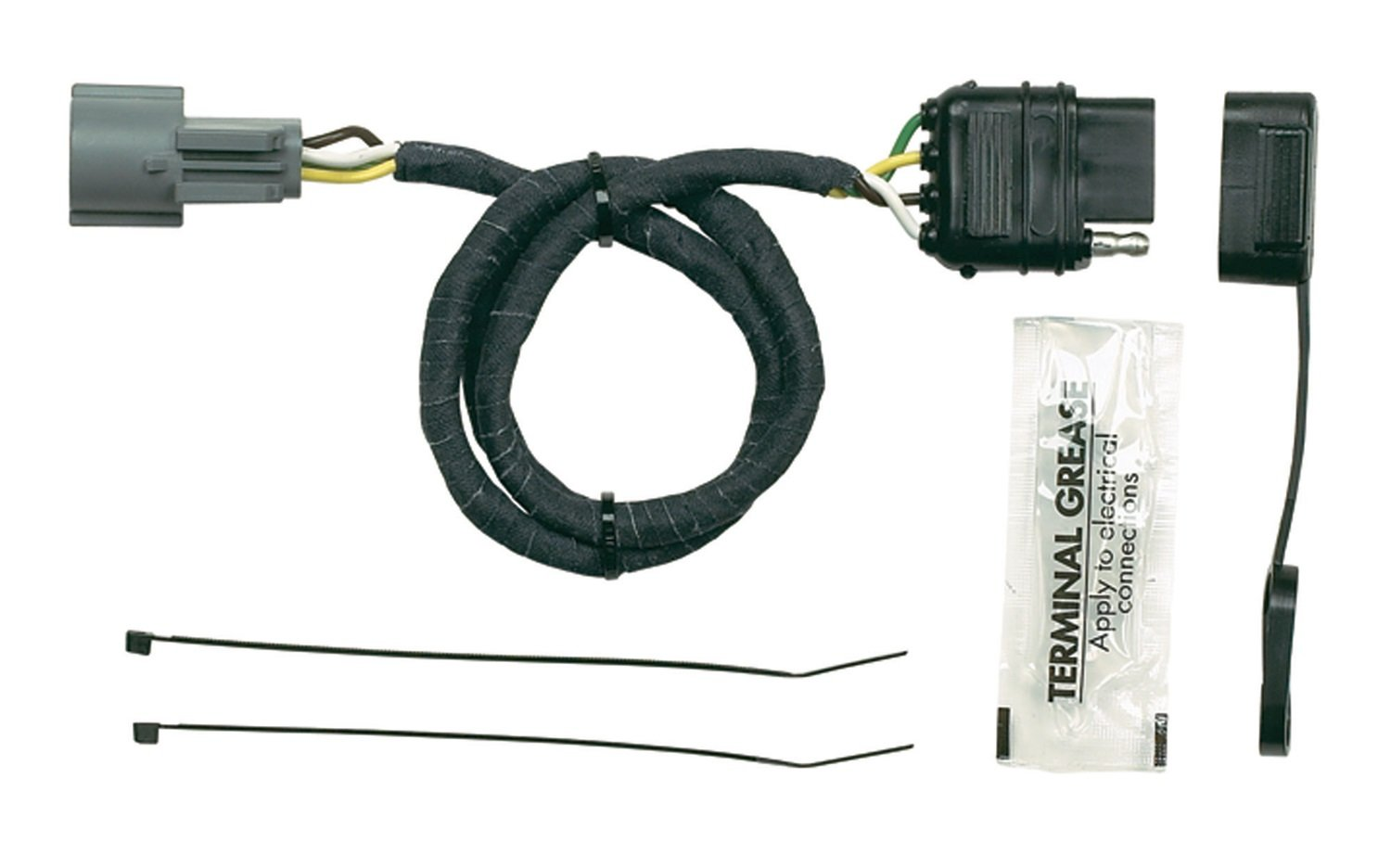 61jrmgZKFDL._SL1500_ amazon com hopkins 11140455 vehicle to trailer wiring kit automotive Trailer Light Wiring Kits at virtualis.co