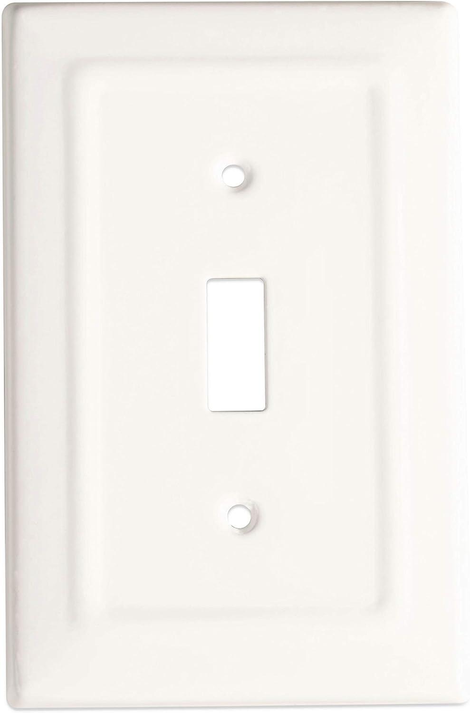 Monarch Abode 19151 Architectural Matte Black Single Wall Switch Plate