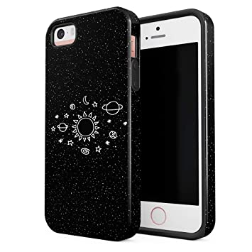 Funda Para iPhone 5 & 5s & SE Space Stars Galaxy Cute Sun ...