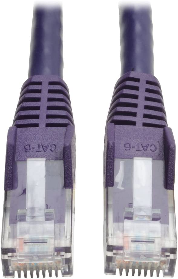 8Ft Cat5E Network LAN Ethernet Modem Molded Snagless Patch Booted Cable Purple