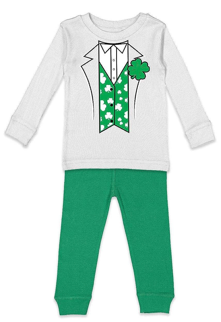 Four Leaf Clover Kids Pajama Set Leprechaun Suit
