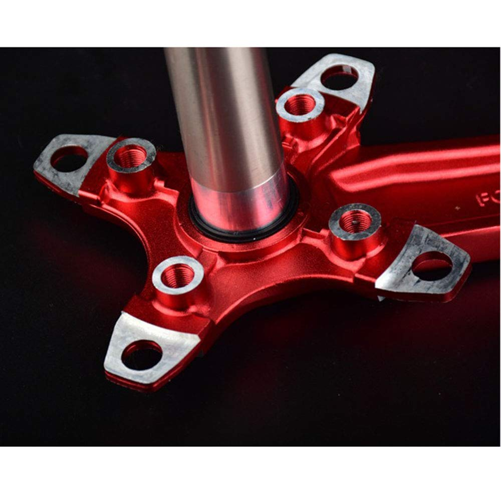 Aluminum Hollow Integrated Crankset Mountain Bike Crank Set Sprocket and 170mm Crank Bottom Bracket Kit